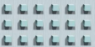 Papel de Parede Texturizado 3D Cubos Azul