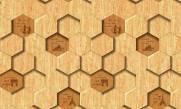 imagem do Papel de Parede Texturizado 3D Hexâgono Madeira