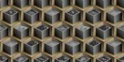 imagem do Papel de Parede Texturizado 3D Cubos Marron e Cinza