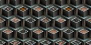 imagem do Papel de Parede Texturizado 3D Cubos Azul e Cinza
