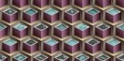 imagem do Papel de Parede Texturizado 3D Cubos Violeta e Marron