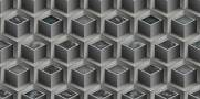 imagem do Papel de Parede Texturizado 3D Cubos Cinza