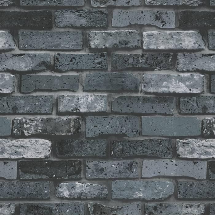 Papel de Parede Texturizado 3D Tijolo Cinza imagem 1