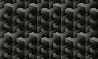 Papel de Parede Texturizado 3D Quadrado Cinza