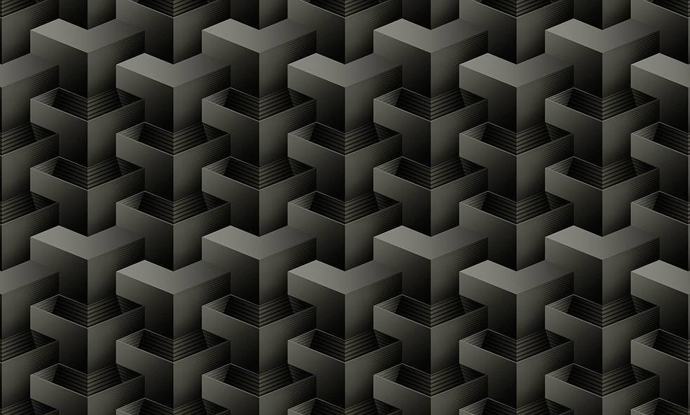 Papel de Parede Texturizado 3D Quadrado Cinza imagem 1
