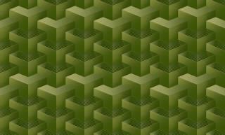 Papel de Parede Texturizado 3D Quadrado Verde