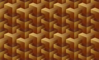 Papel de Parede Texturizado 3D Quadrado Amarelo