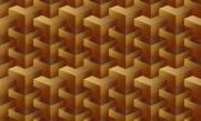 imagem do Papel de Parede Texturizado 3D Quadrado Amarelo
