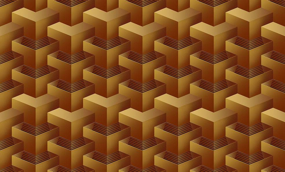 Papel de Parede Texturizado 3D Quadrado Bege imagem 1