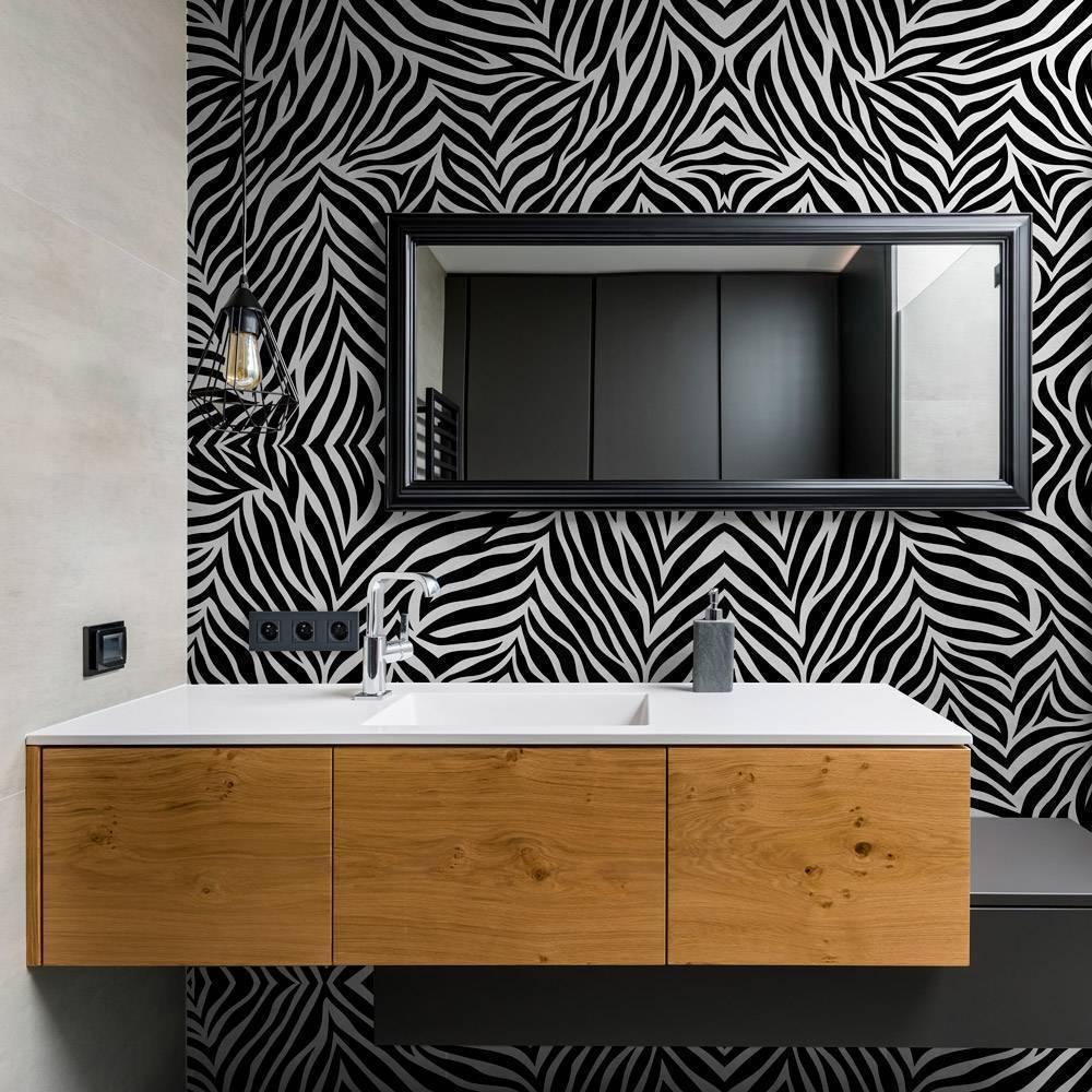 Papel de Parede Zebra | Adesivo Vinílico imagem 2