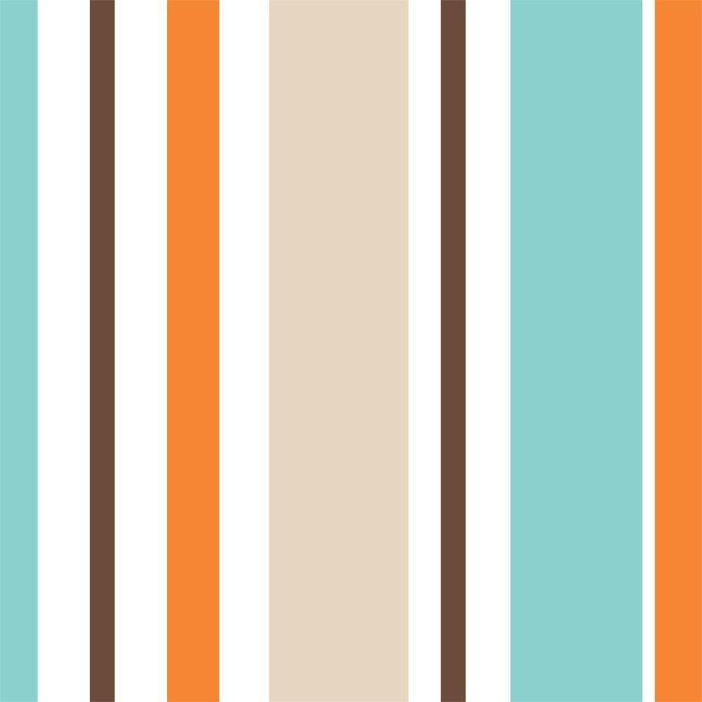 Papel de Parede Listras Coloridas /Rolo  imagem 1
