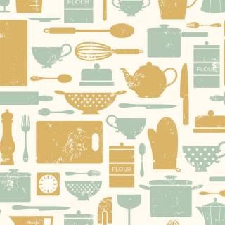 Papel de Parede Adesivo Gourmet  /Rolo