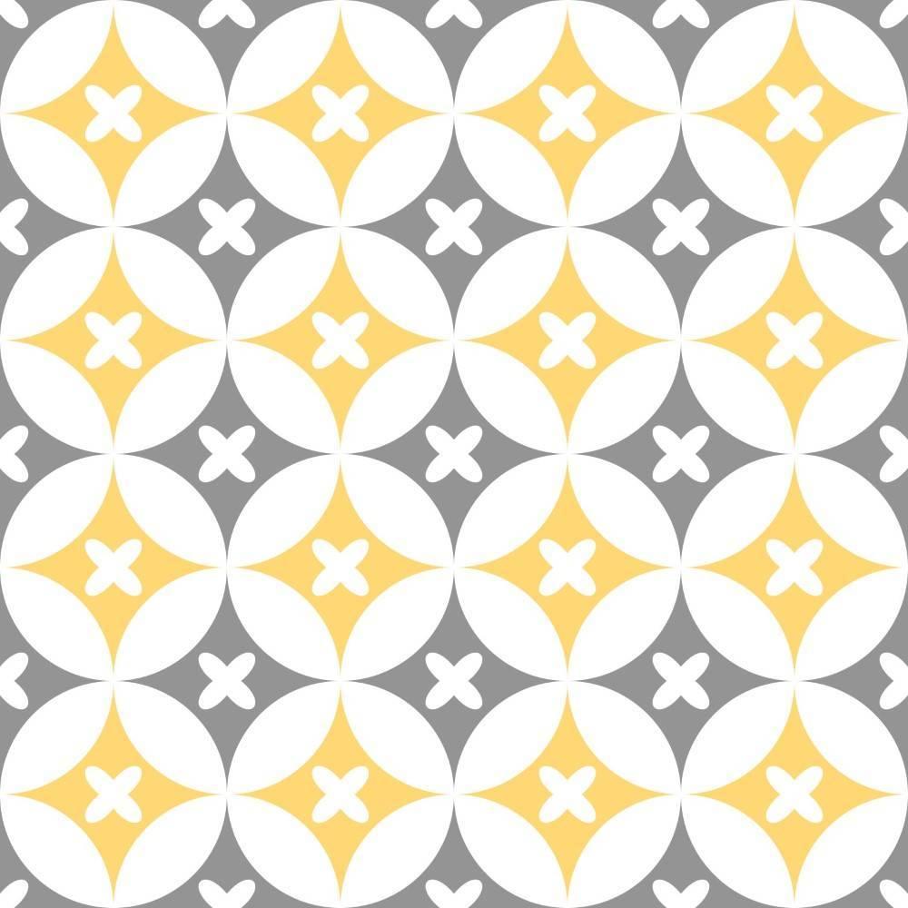 Papel de Parede Cinza e Amarelo  2 | Adesivo Vinilico imagem 2