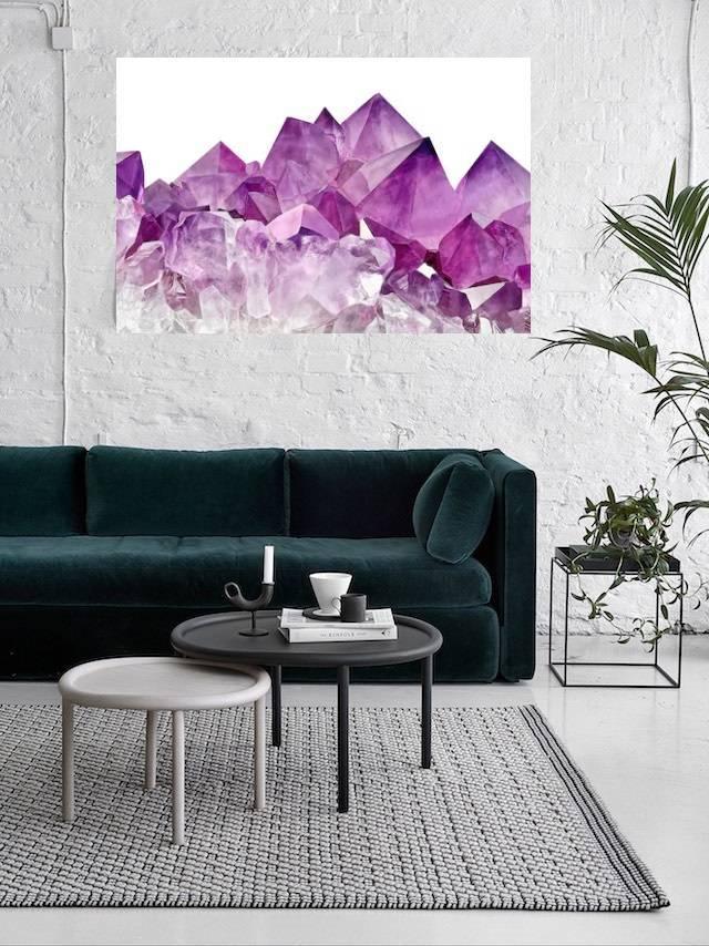 Quadro Cristal Violeta 40x60  imagem 2