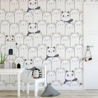 Papel de Parede Adesivo Pandas /Rolo
