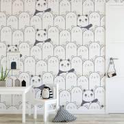 imagem do Papel de Parede Adesivo Pandas /Rolo