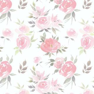 Papel de Parede Aquarela Flores | Adesivo Vinílico