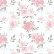 imagem do Papel de Parede Aquarela Flores | Adesivo Vinílico