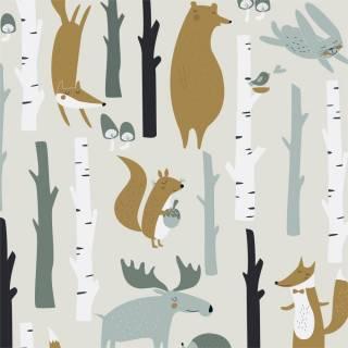 Papel de Parede Animais na Floresta | Adesivo Vinilico