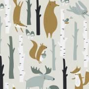 imagem do Papel de Parede Animais na Floresta | Adesivo Vinilico
