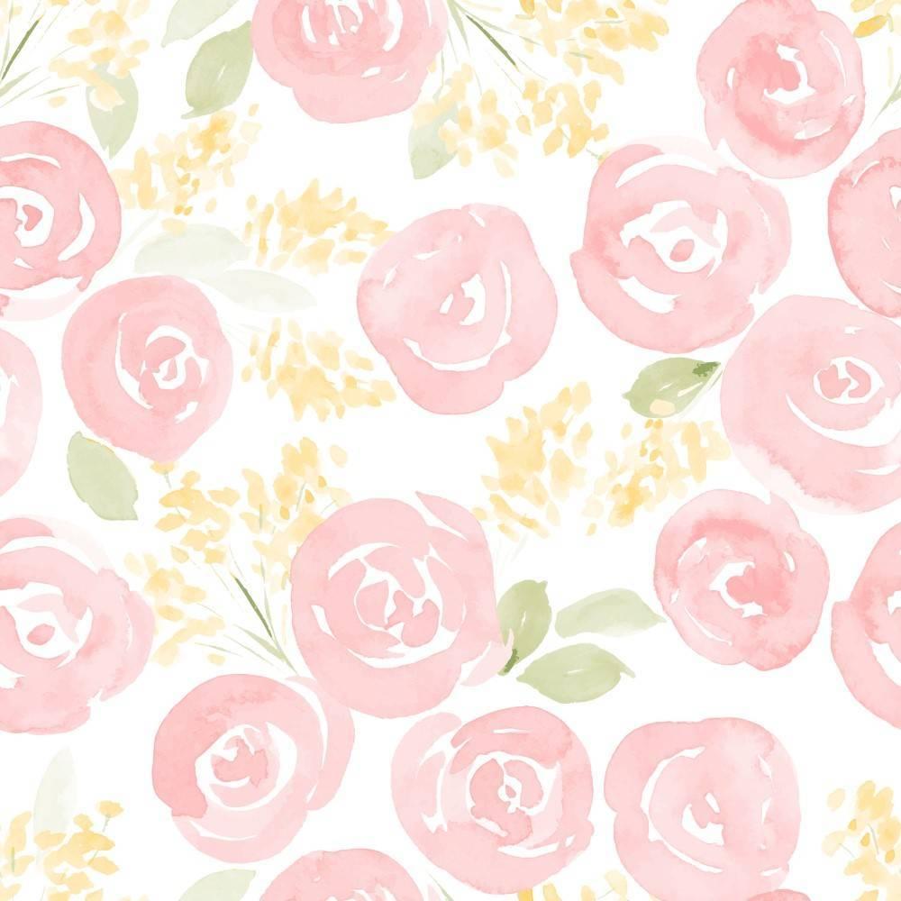 Papel de Parede Rose | Adesivo Vinílico  imagem 1