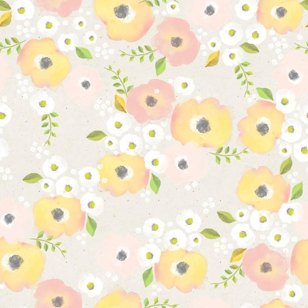 Papel de Parede Floral Pastel | Adesivo Vinílico imagem 2