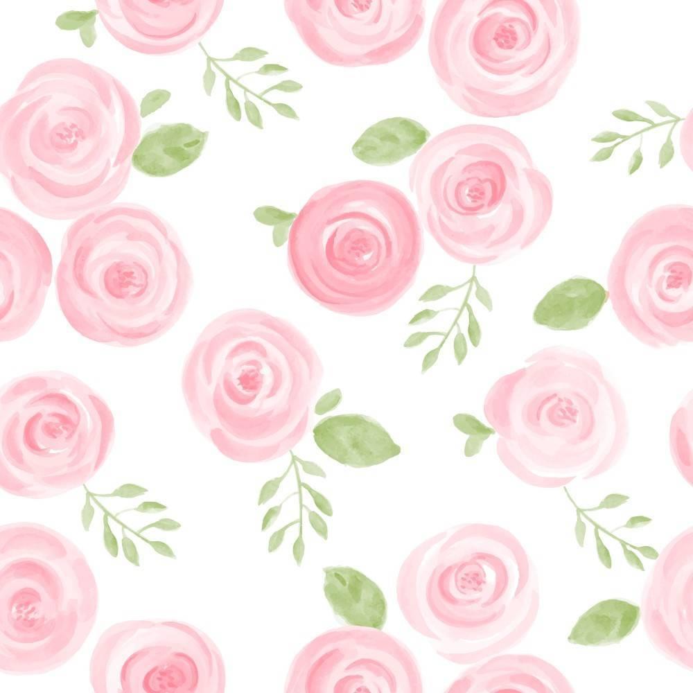 Papel de Parede Rosas | Adesivo Vinílico imagem 1