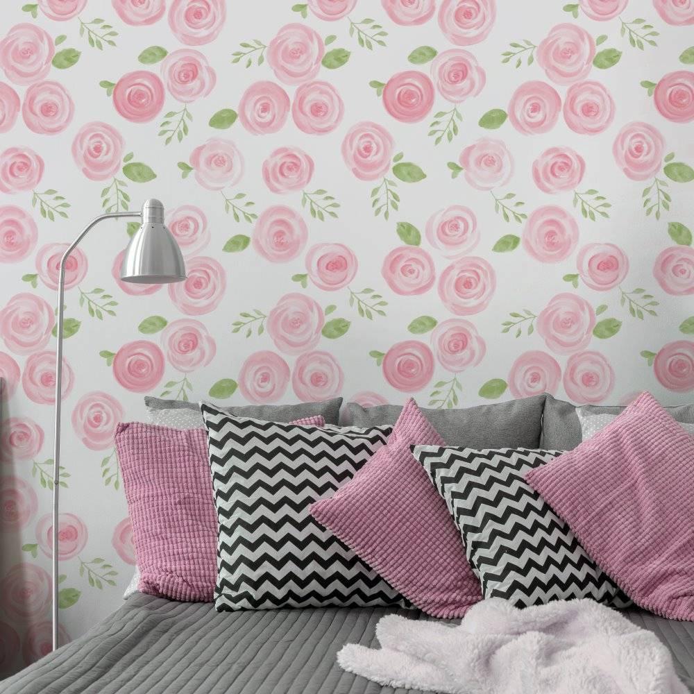 Papel de Parede Rosas | Adesivo Vinílico imagem 2