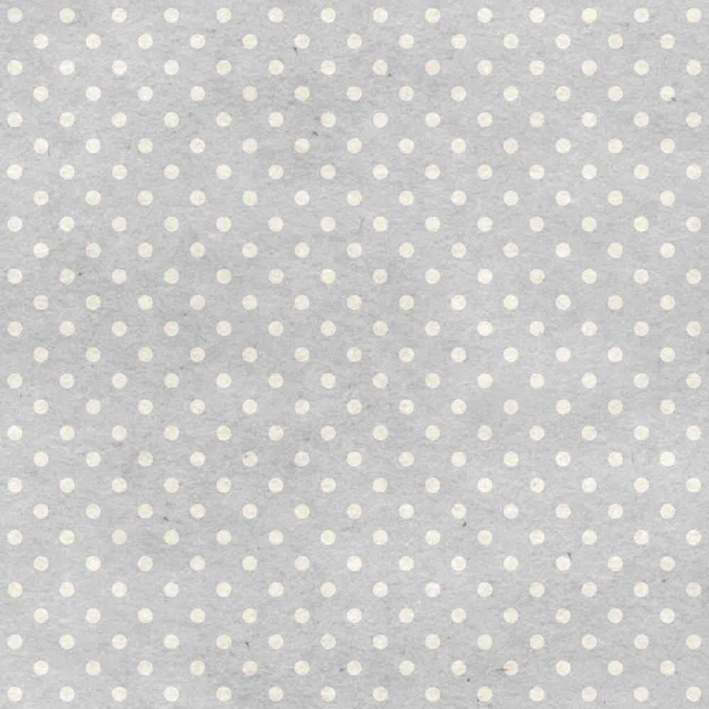 Papel de Parede Adesivo Poá cinza e branco/Rolo imagem 1