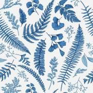 imagem do Papel de Parede Folhagem Azul | Adesivo vinílico