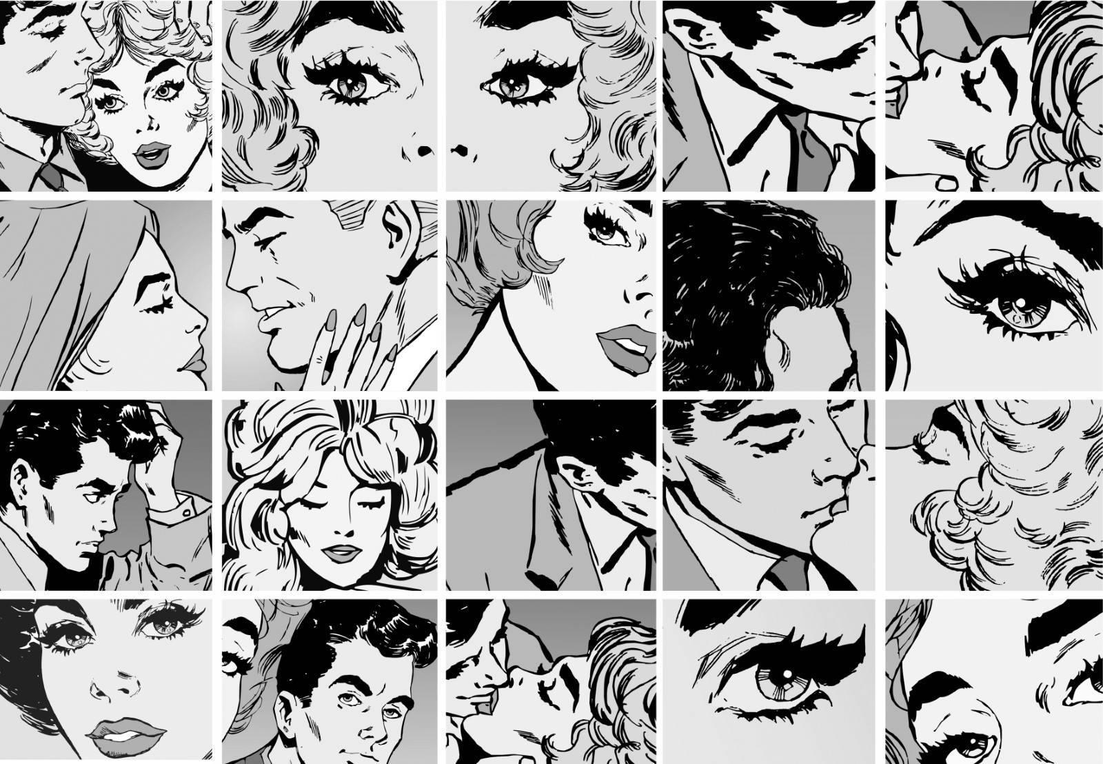 Painel Fotográfico Quadrinhos de Pop Art/ m² imagem 1