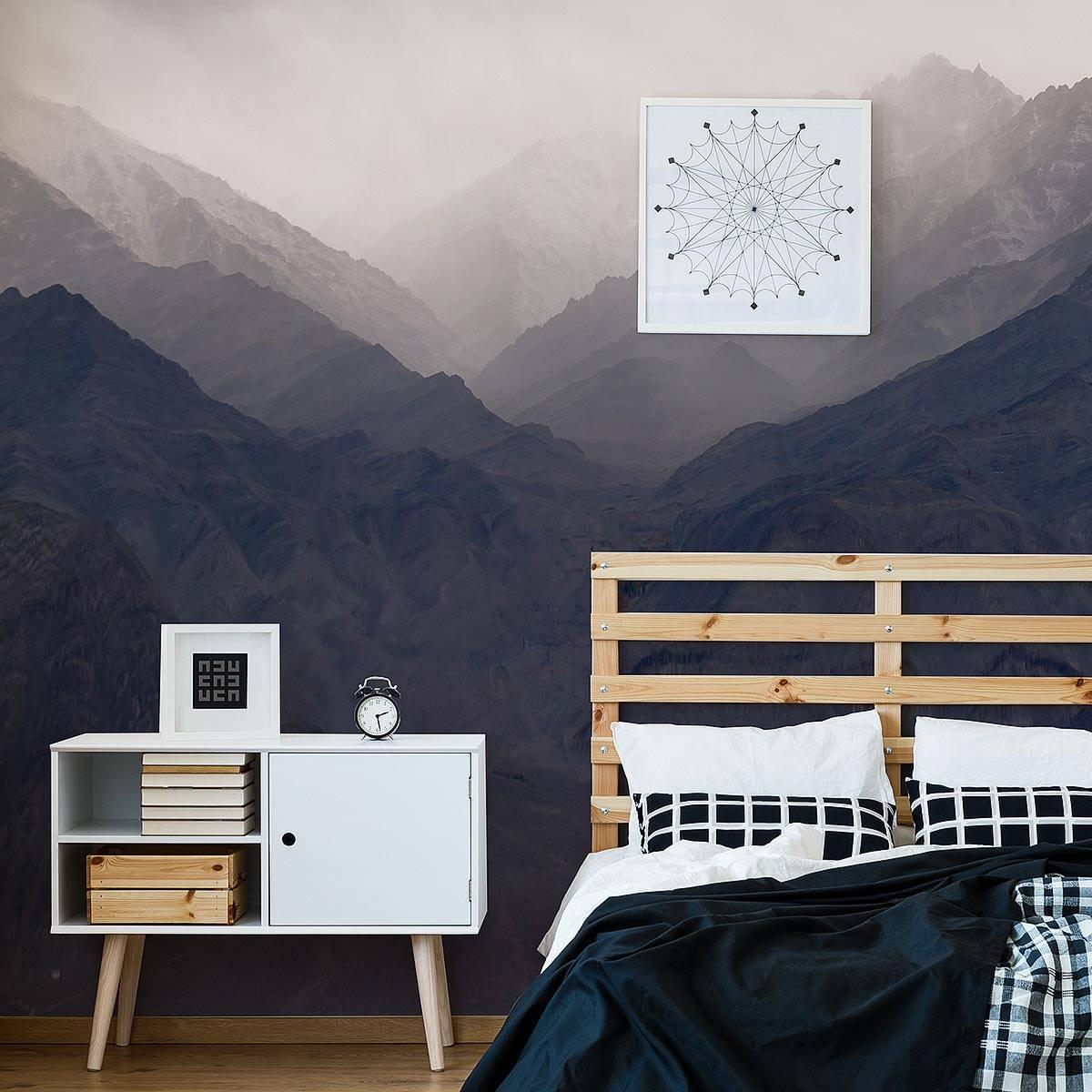 Painel Fotográfico Montanhas com Neblina / m² imagem 1