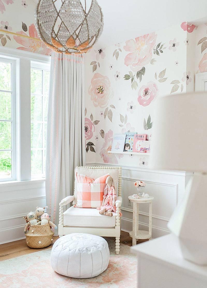 Painel Fotográfico Floral Rosa Aquarela / m² imagem 3