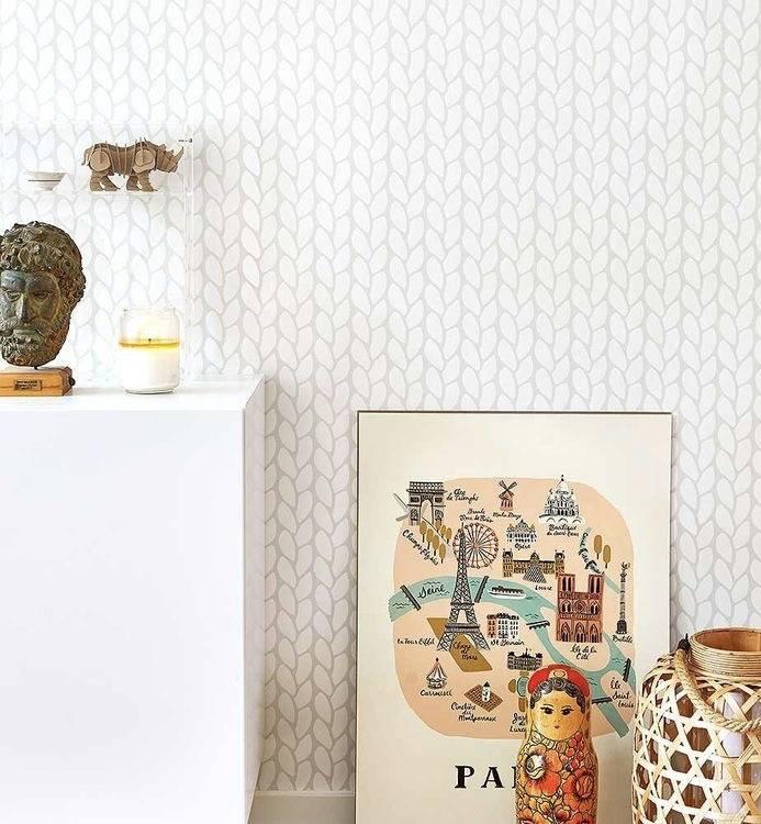 Papel de Parede Crochê | Adesivo Vinilico imagem 1