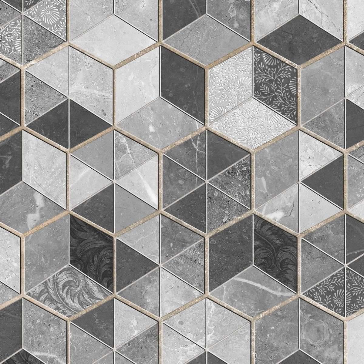Papel de Parede Adesivo Geométrico 3D/ FRETE GRÁTIS P/ SP - Redecorei