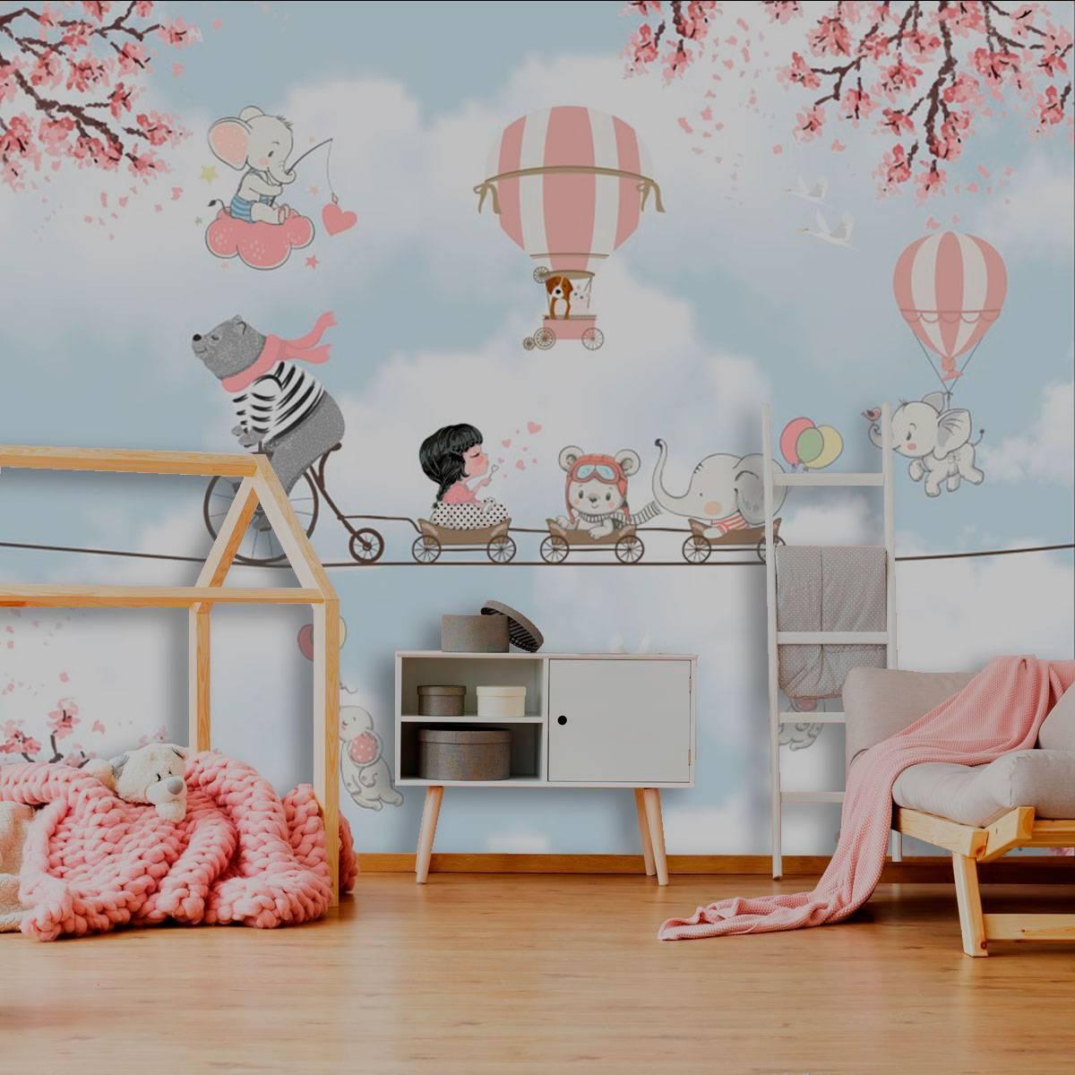 Painel Fotográfico Urso Na Corda | m² imagem 1