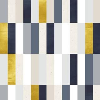 Papel de Parede Amarelo e Cinza Geométrico | Rolo Adesivo