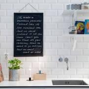 imagem do Papel de Parede Azulejo Retangular Branco | Rolo Adesivo