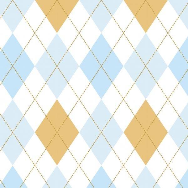 Papel de Parede Xadrez Azul Bebe | Adesivo Vinilico imagem 2