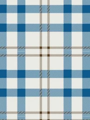 Papel de Parede Xadrez Azul e Bege | Adesivo Vinílico  imagem 2