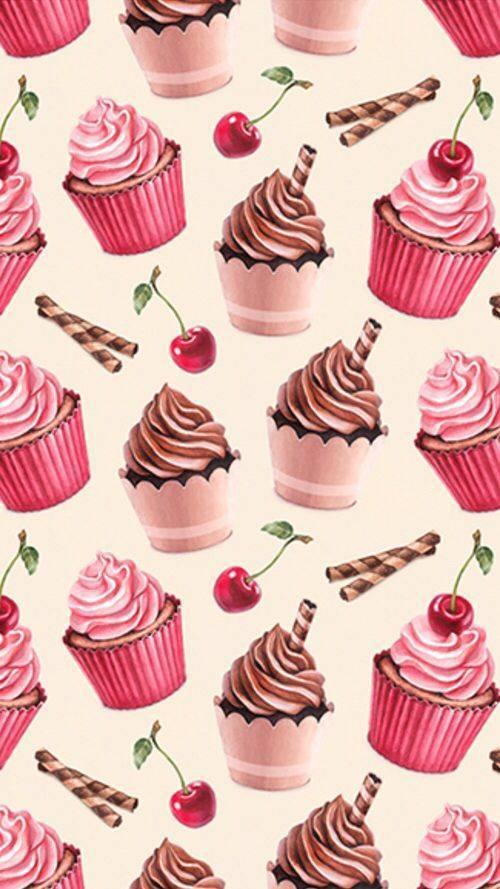 Papel de Parede Cupcakes | Adesivo Vinílico imagem 2