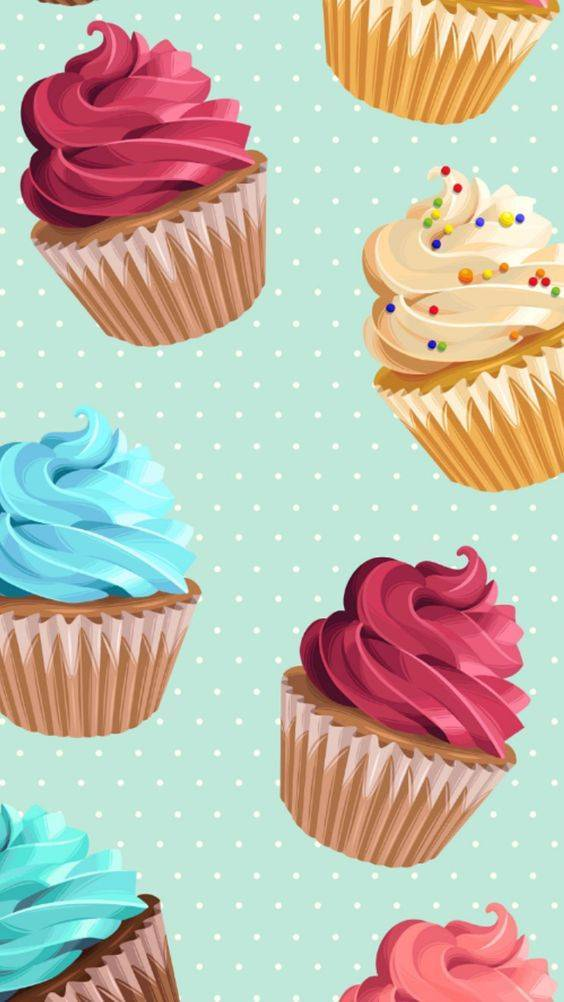 Papel de Parede Cupcakes Coloridos | Adesivo Vinílico imagem 2