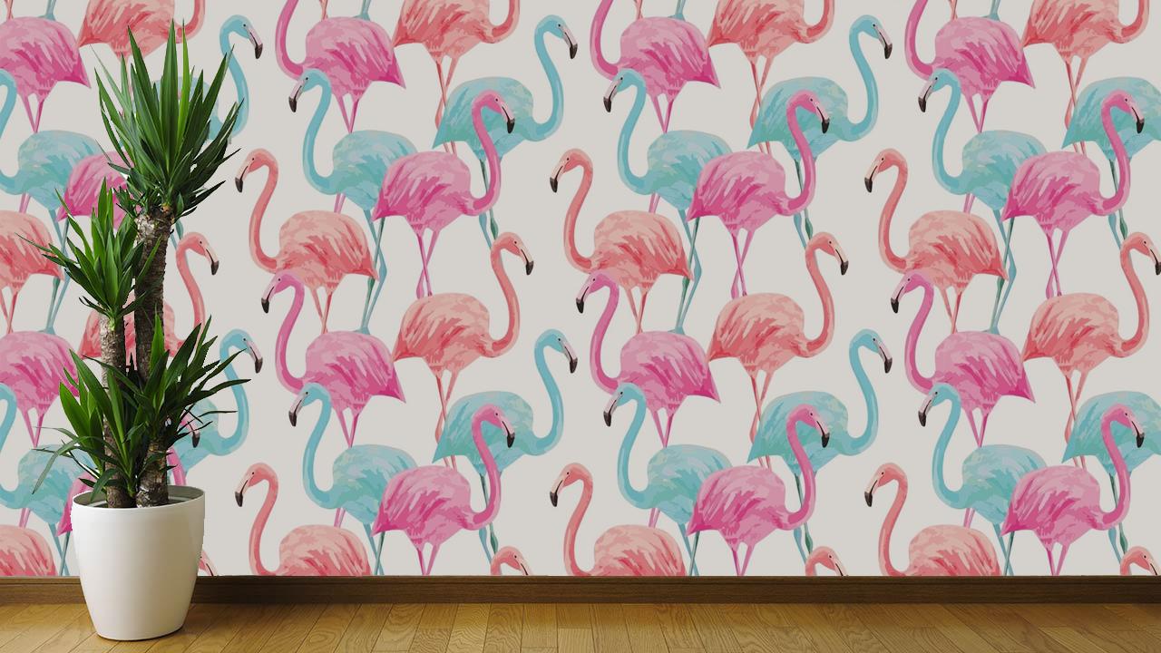 Papel de Parede Flamingos | Adesivo Vinilico imagem 3