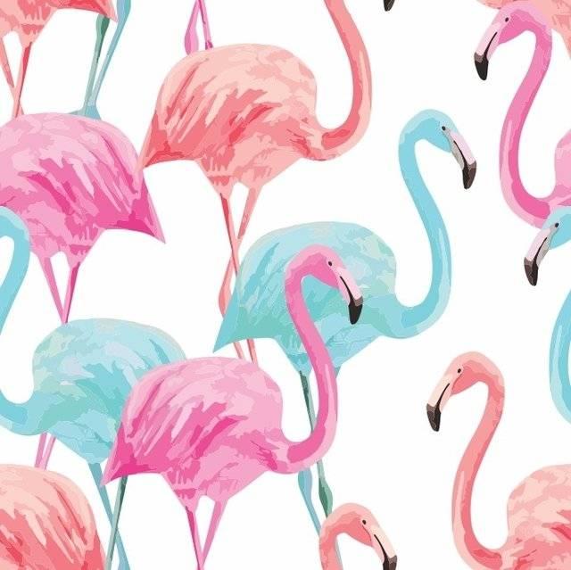 Papel de Parede Flamingos | Adesivo Vinilico imagem 2