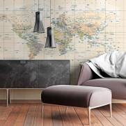 imagem do Papel de Parede Mapa Mundi Vintage | Painel Fotográfico m²
