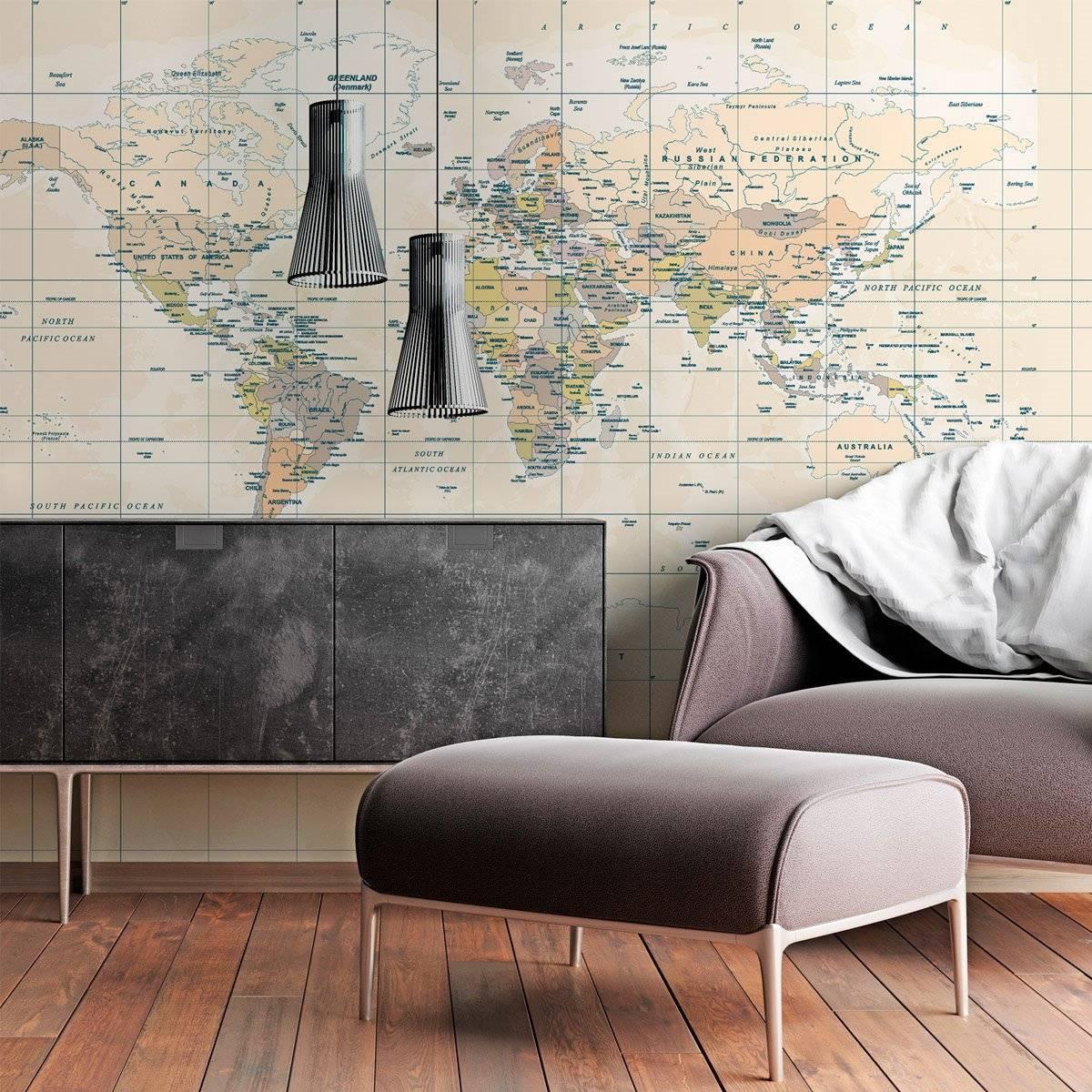 Papel de Parede Mapa Mundi Vintage | Painel Fotográfico m² imagem 1
