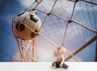 Papel de Parede Bola na Rede| Painel Fotográfico M²
