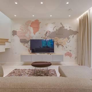 Mapa do Mundo Tom Pastel | Painel Fotográfico M²