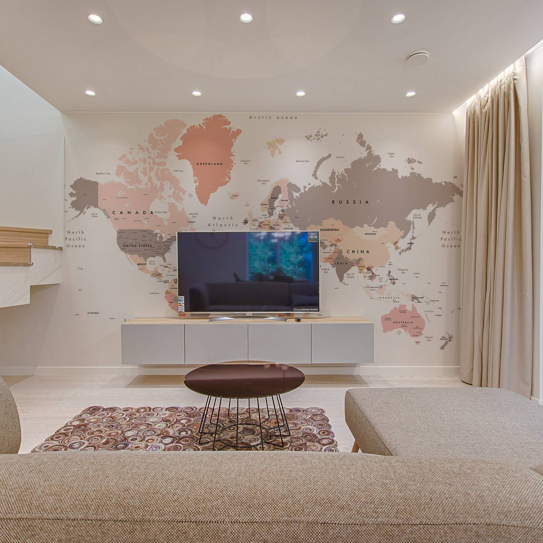Mapa do Mundo Tom Pastel | Painel Fotográfico M² imagem 1