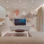 imagem do Mapa do Mundo Tom Pastel | Painel Fotográfico M²